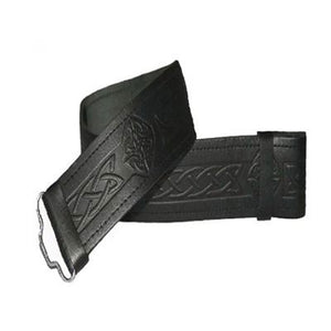 Swirl Celtic Knot Kilt Belt In Leather
