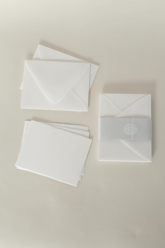 Deckled Edge Note Cards, Classic Thank You Cards, Custom Notecards, Note Cards, Invitations