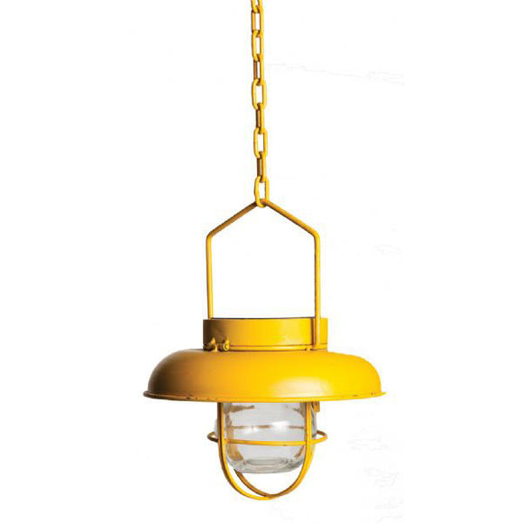 Solar Power Industrial Style Light Yellow