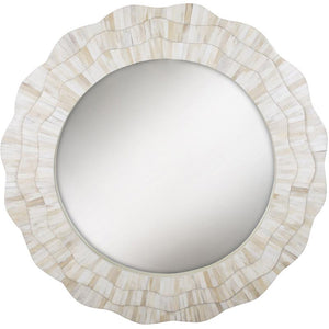 MDF & Bone Sunburst Mirror