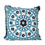 Square Polyester Mandala Embroidered Cushion