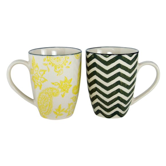 Stoneware Cups in Gift Box - Set of 2