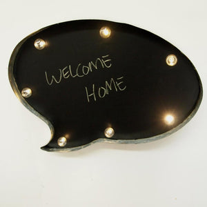 LED Marquee Chalkboard Speech Bubble Wall Sign