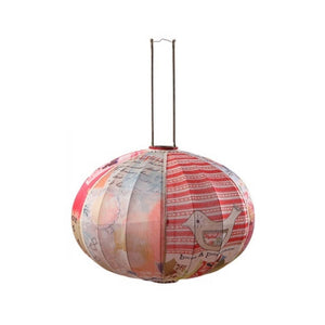 Round Fabric Lantern French Provincial