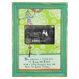"4""x 6"" Wooden Photo Frame with Saying - Unicycle"