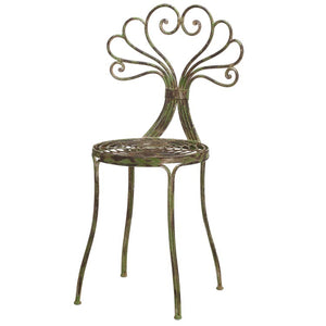 Metal Chair in Distressed Green
