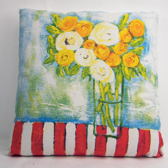Kellie Floral Cotton Cushion - Style 2