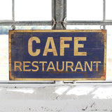 Metal Cafe Restaurant Wall Plaque