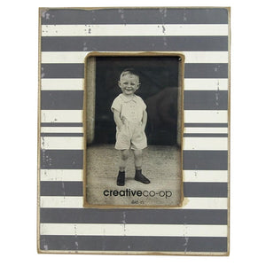 "4"" x 6"" MDF Wooden Striped Photo Frame - Style A"