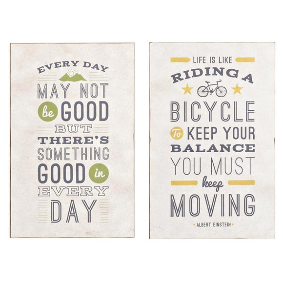 MDF Wall Plaques Set of 2