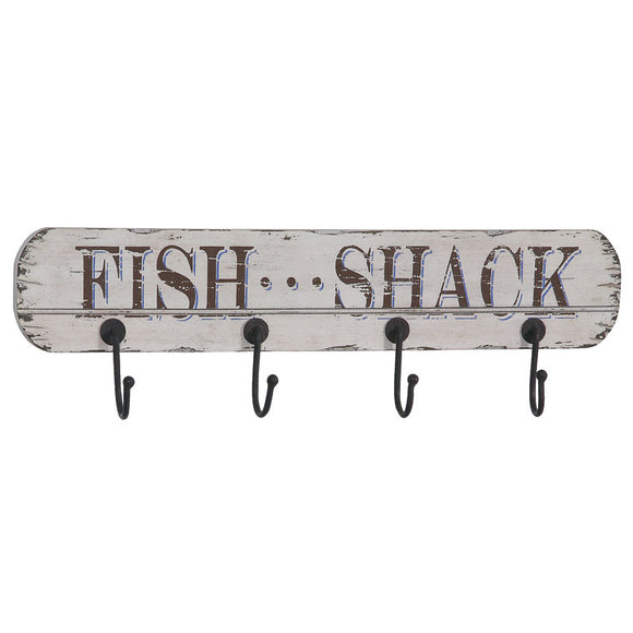 MDF Wall Plaques with 4 Hooks - Fish Shack