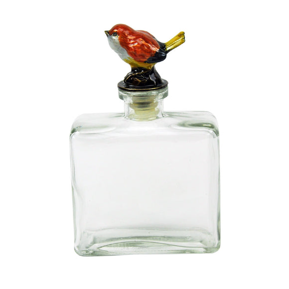 Glass Bottles with Pewter Bird - Style D