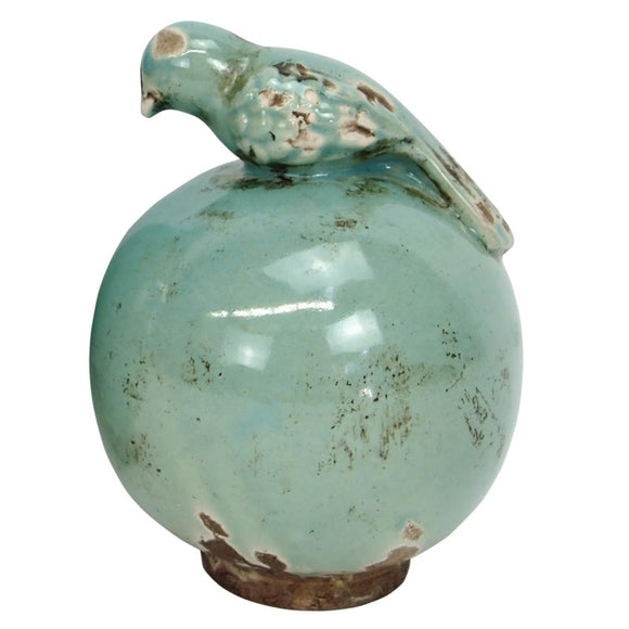 Small Stoneware Finial with Bird
