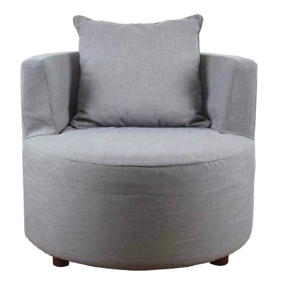 Round Upholstered Single Sofa