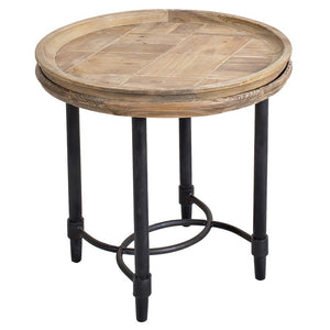 Vera Reclaimed Pine Wooden Tray Top Side Table