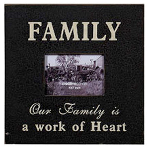 "Large 5"" x 7"" Wooden Photo Frame/ Wall Art - FAMILY - Vintage / Shabby/ Rustic Style"