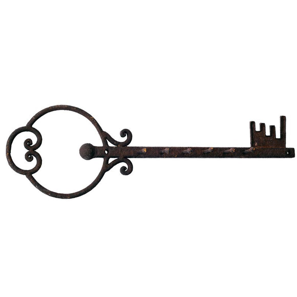 Rustic Metal Key with 6 Hooks