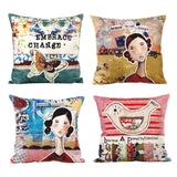 Embroidered & Printed Exquisite Scatter Cushion with Insert - Butterfly