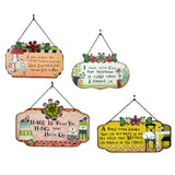 Tin Wall Plaques with Chain & Flower Embellishments - Good Cook