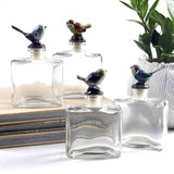 Glass Bottles with Pewter Bird - Style B
