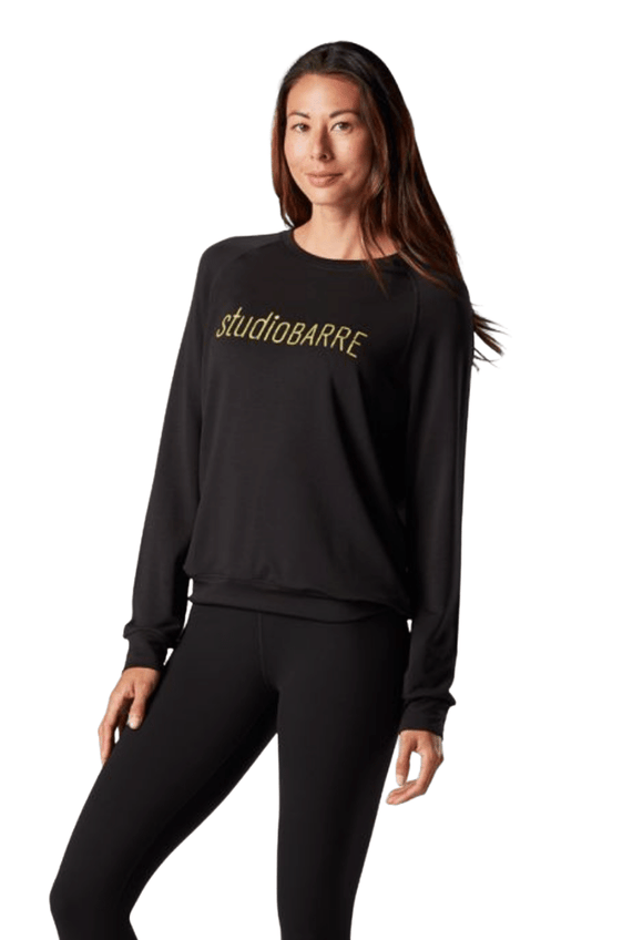 Tavi Noir Crew Neck Sweatshirt - Studio Barre Branded