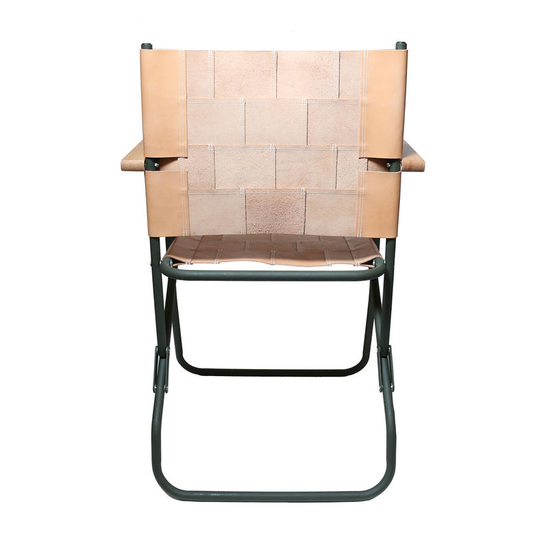 Patchwork leather chair