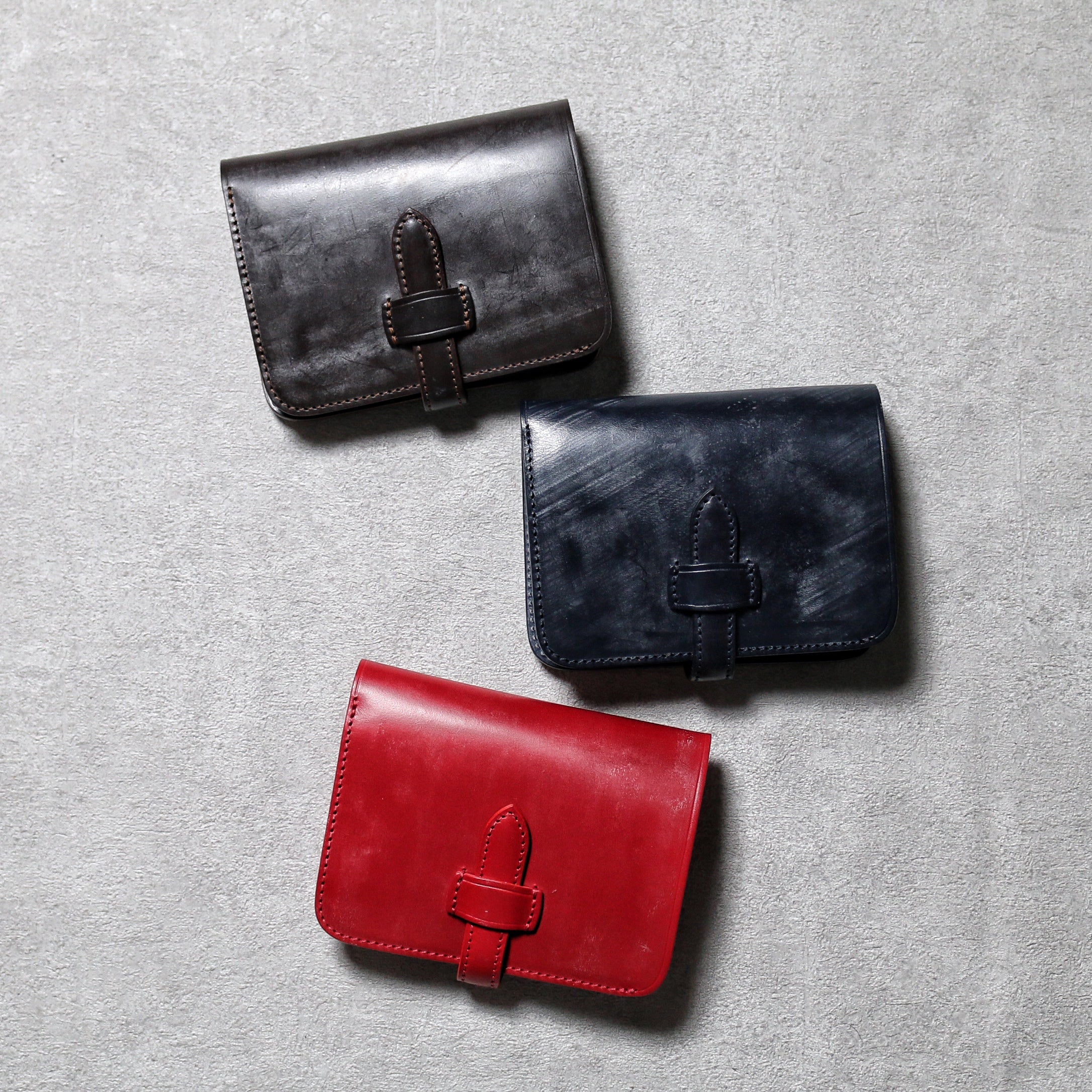 bridle leather middle wallet