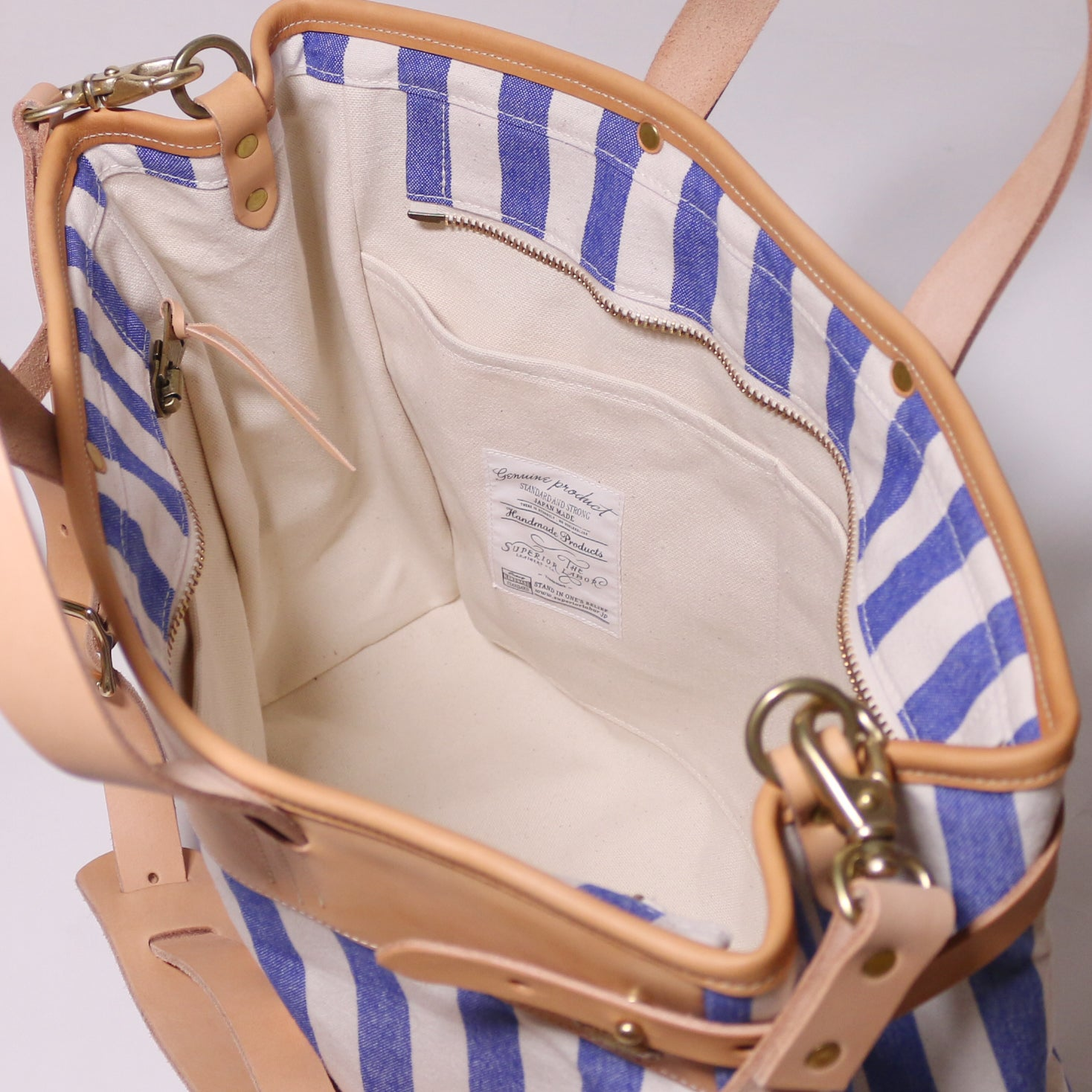 stripe travel bag