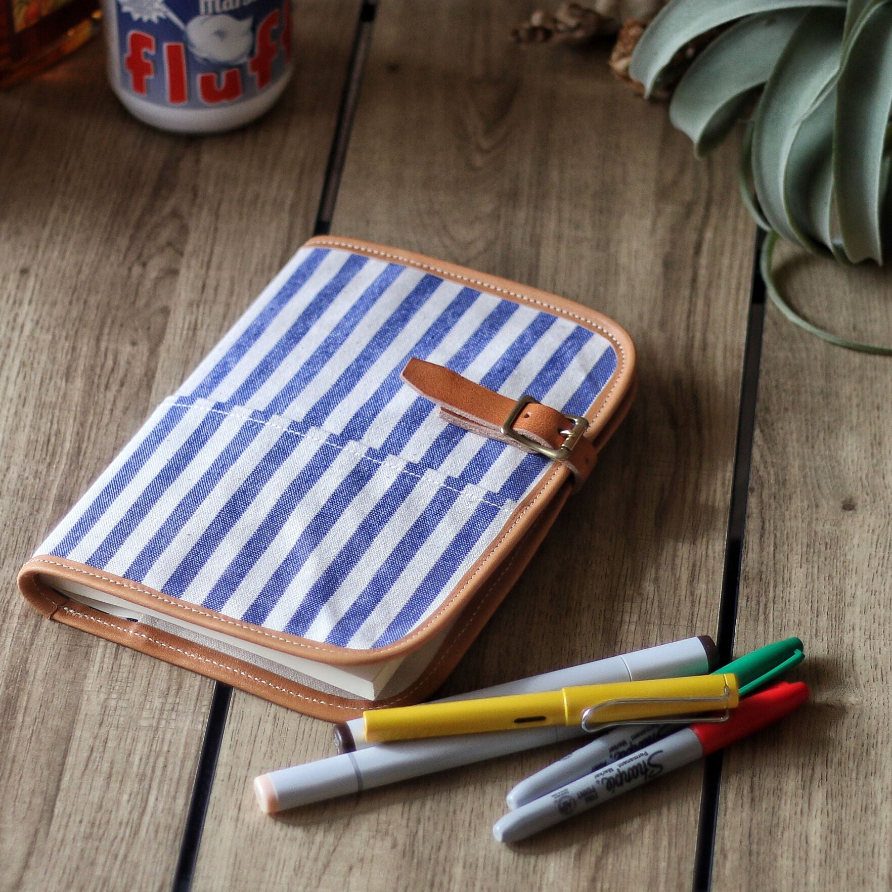 stripe A5notebook cover
