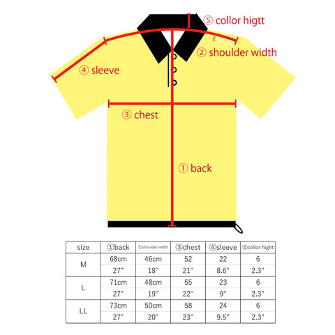 the sizing chart