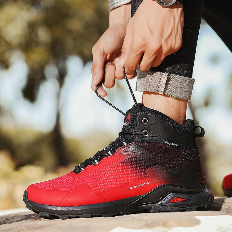 Waterproof Leather Plush Outdoor Hiking Boots