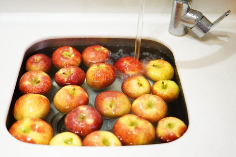 Bobbing for Apples at Halloween