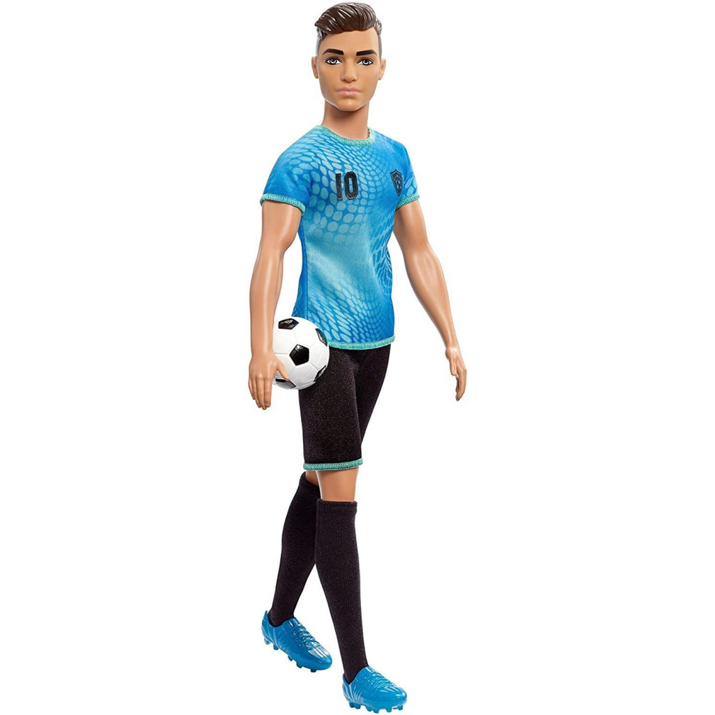 Barbie Ken Footballer Doll in Career-Themed Outfit FXP02 - Maqio