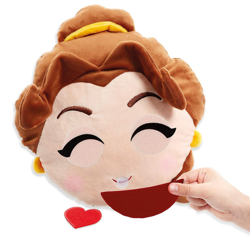 Disney Princess Emoji Swapsies Belle Mega Plush - 20 Expressions - Soft Toy - Maqio