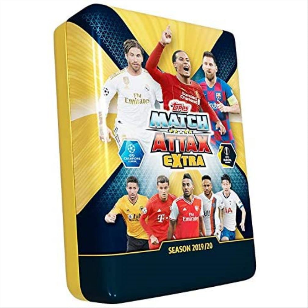 Match Attax Extra 19/20 UEFA Champions League Mega Tin - 60 Cards Inside! - Maqio