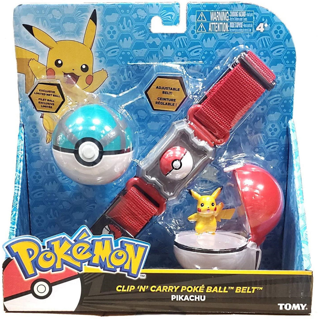 Pokemon T18889 Clip N Go Belt with Pikachu (Poke Ball/Net Ball) (T19220) - Maqio