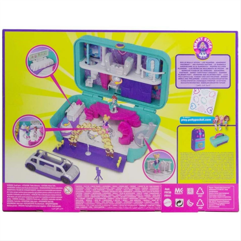 Polly Pocket Hidden Places Dance Par-taay Case Playset FRY41 - Maqio