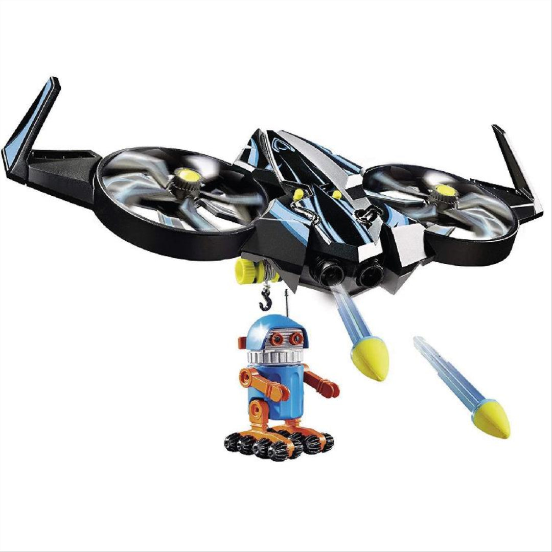 Playmobil the Movie 70071 Robotitron with Drone Action Toy Vehicle Playset