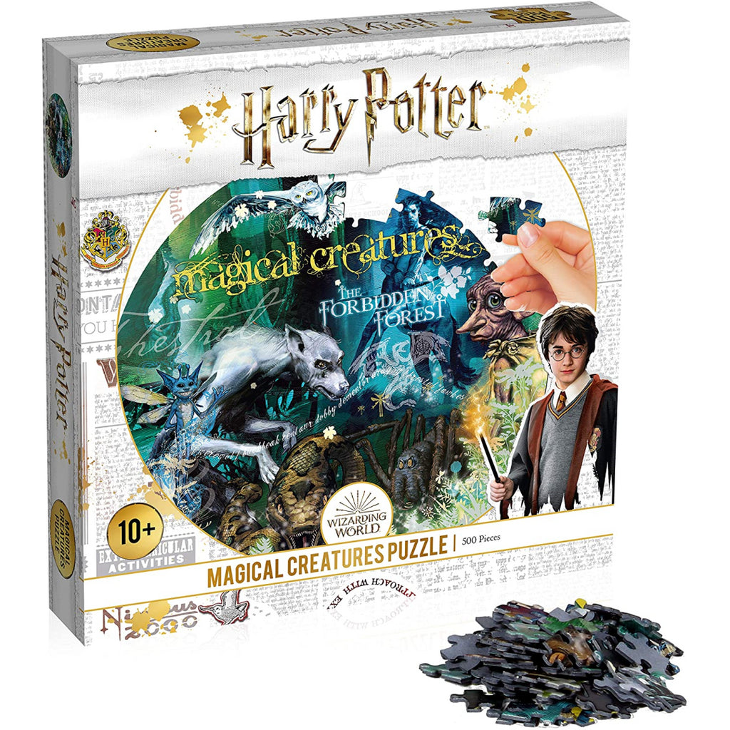 Winning Moves Harry Potter Magical Creatures 500 Piece Jigsaw Puzzle (White) - Maqio