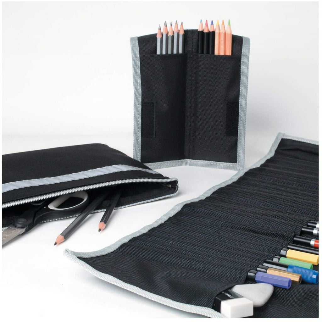 Derwent Academy Mead Pencil Storage Wrap with 25 Pockets - Maqio