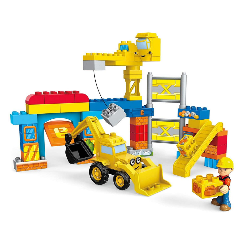 Mattel Mega Blox Bob the Builder FFF24 Work Yard Build-up Construction Toy - Maqio