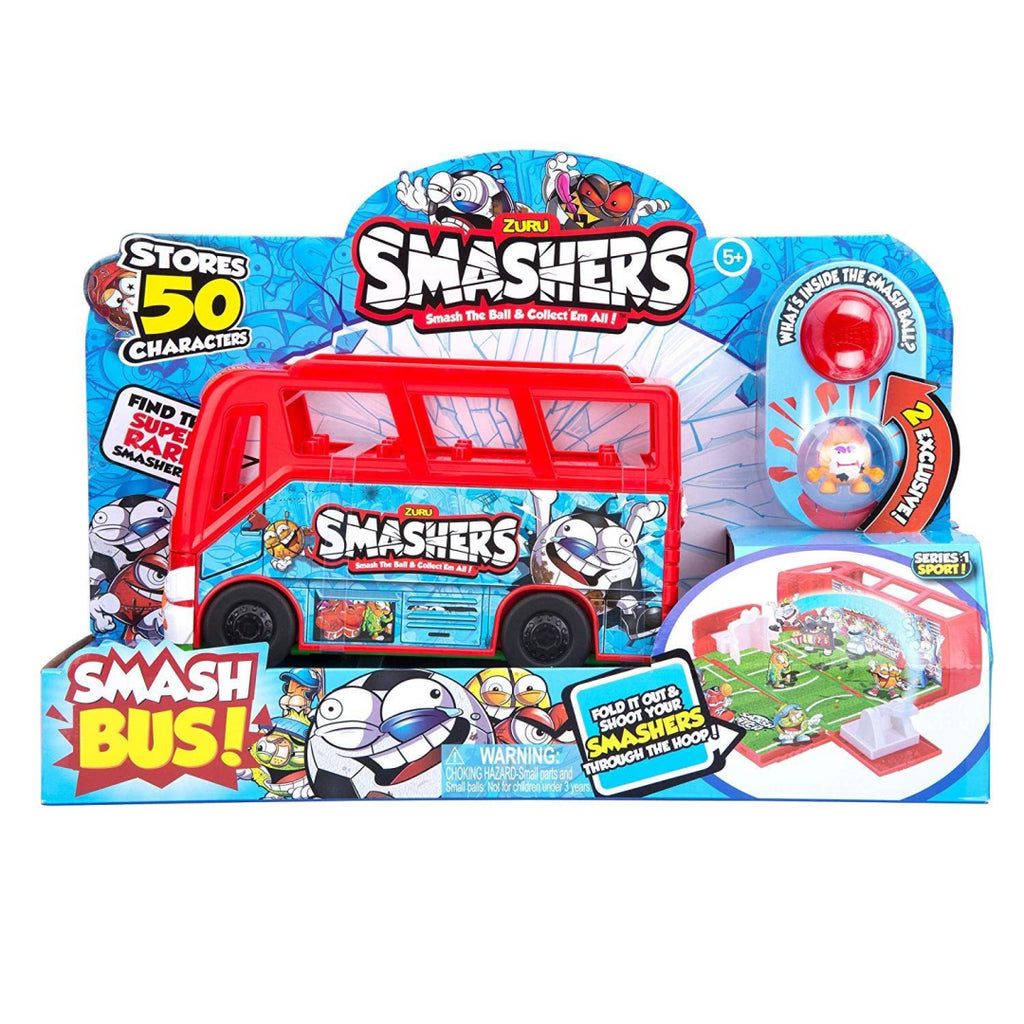 Smashers 7408 Team Bus Collectible Toy Playset - Maqio