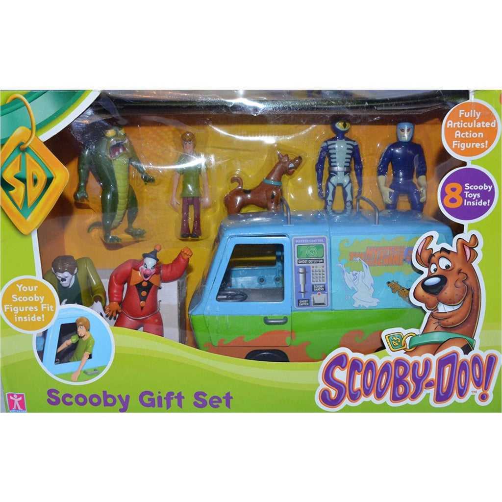Scooby-Doo Scooby Gift Set with Myster Machine and 7 Scooby Action Figures - Maqio