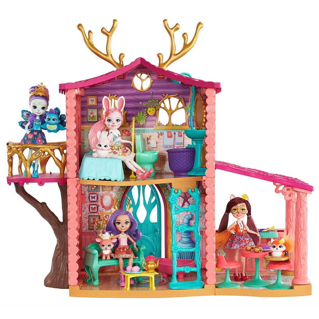 Enchantimals FRH50 Cosy House Playset with Danessa Deer Doll and Sprint Figure - Maqio