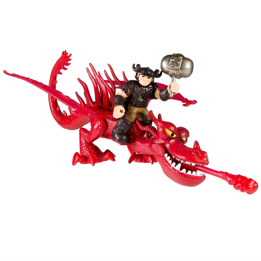 How to Train Your Dragon Snotlout and Hookfang Figures - Maqio
