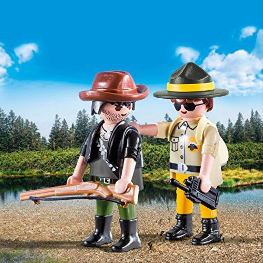 Playmobil 9217 Collectable Ranger and Hunter Duo Pack - Maqio