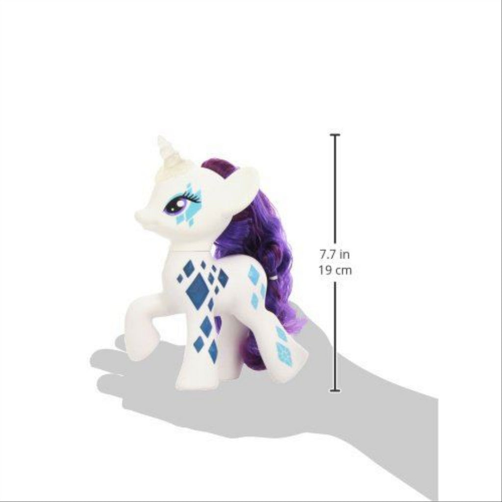 Electronic My Little Pony Glamour Glow Rarity Lights Up Cutie Mark Magic Figure - Maqio