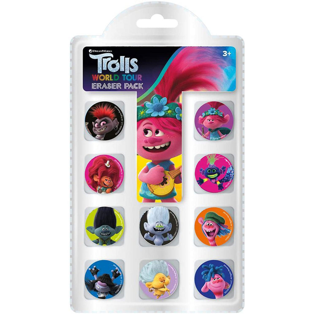Trolls Movie Eraser Pack of 10 - Maqio