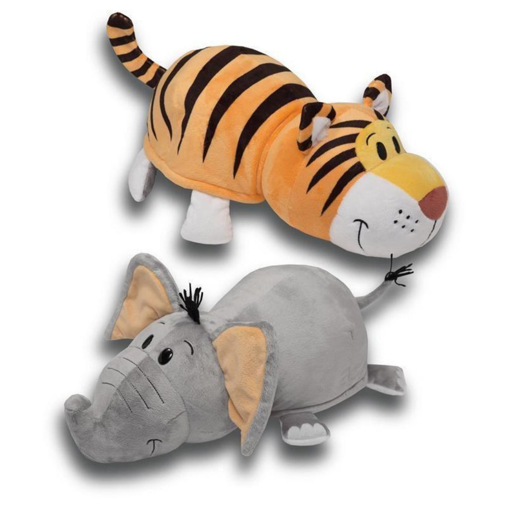 Flip a Zoo Elephant/Tiger Soft Toy 020338 (20149) - Maqio