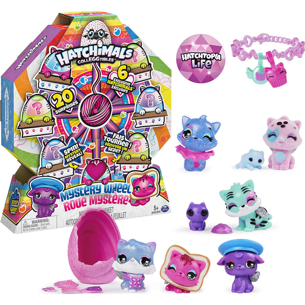 HATCHIMALS CollEGGtibles Cat Crazy Mystery Wheel with 20 Surprises to Open! - Maqio
